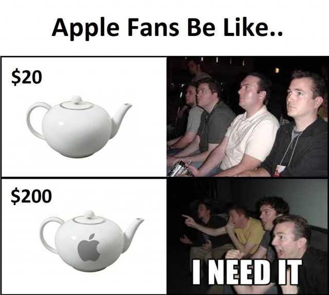 Apple Fans Be Like Apple Meme