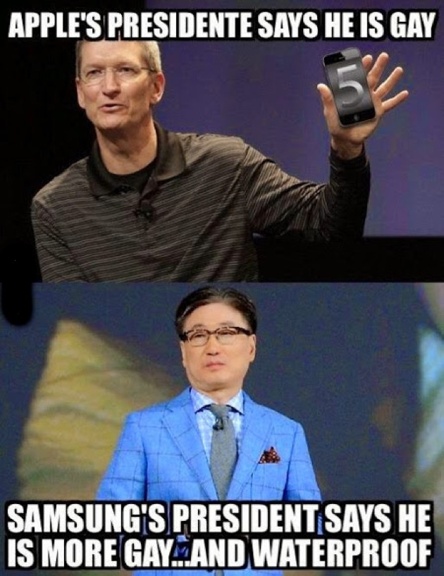 Apple's Presidente Says He Is Gay Apple Meme