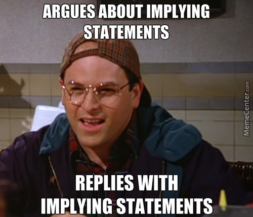 Argues About Implying George Meme