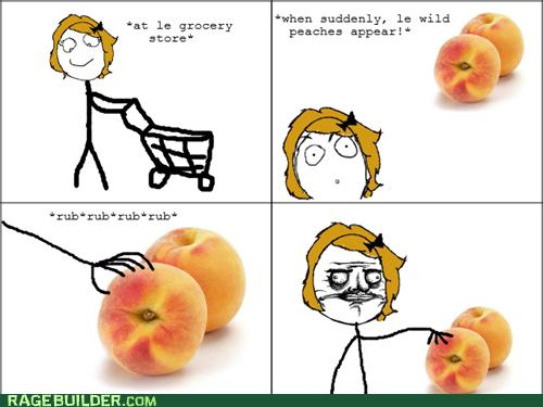 At Le Grocery Store Peach Meme