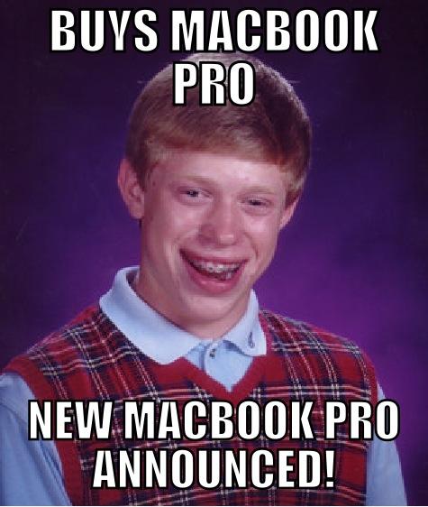 Buys Macbook Pro New Macbook Pro Announced Apple Meme