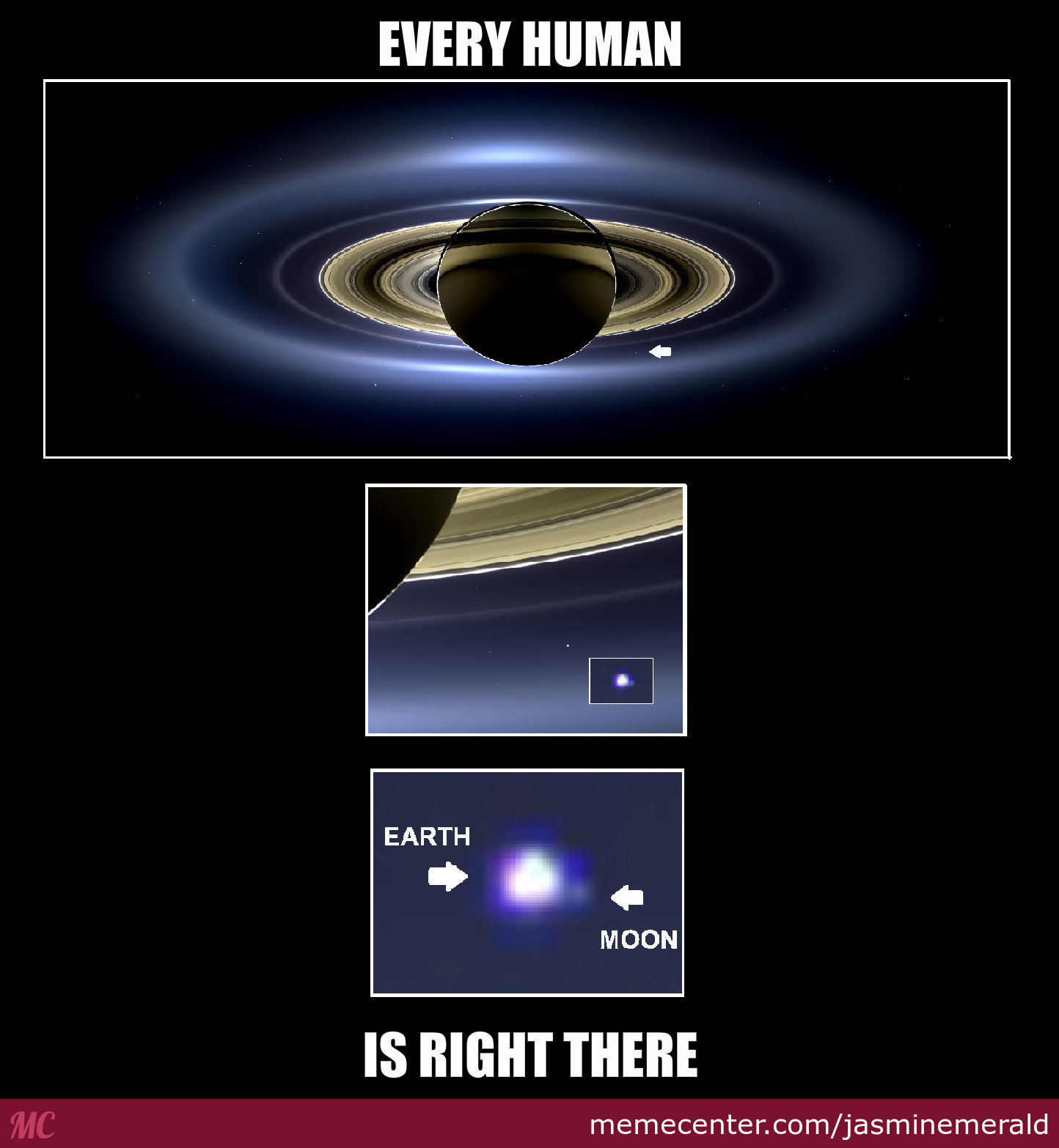 Every Human Is Right There Saturn Meme
