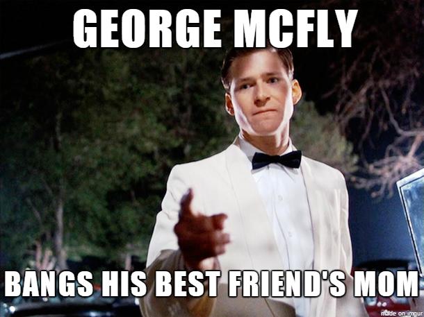 George Mcfly Bangs George Meme