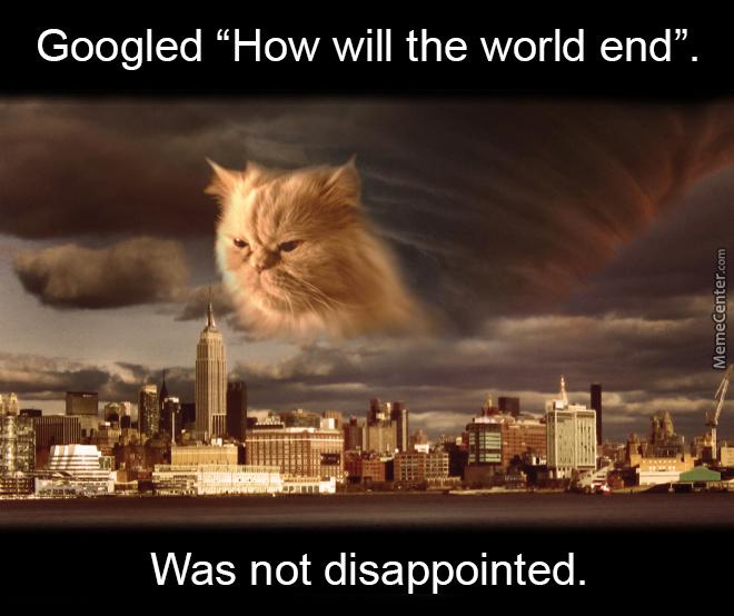 Googled How Will End Of The World Meme