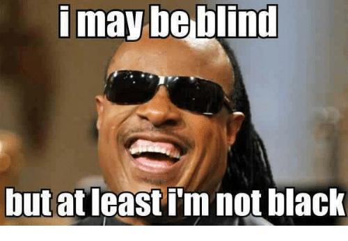 I May Be Blind Black Meme