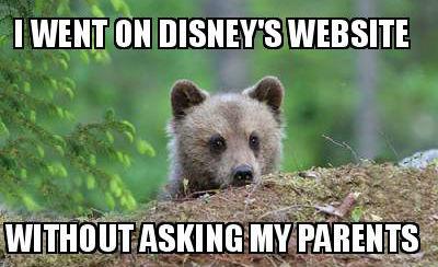 I Went On Disney's Website Cub Meme