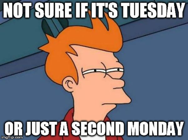 Not Sure If It's Tuesday Meme