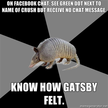 On Facebook Chat Green Armadillo Meme