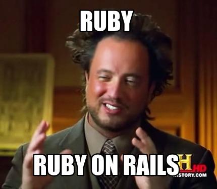Ruby Ruby On Rails Ruby Meme