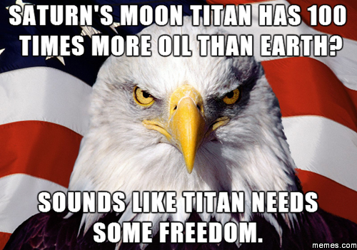 Saturn's Moon Titan Has Saturn Meme