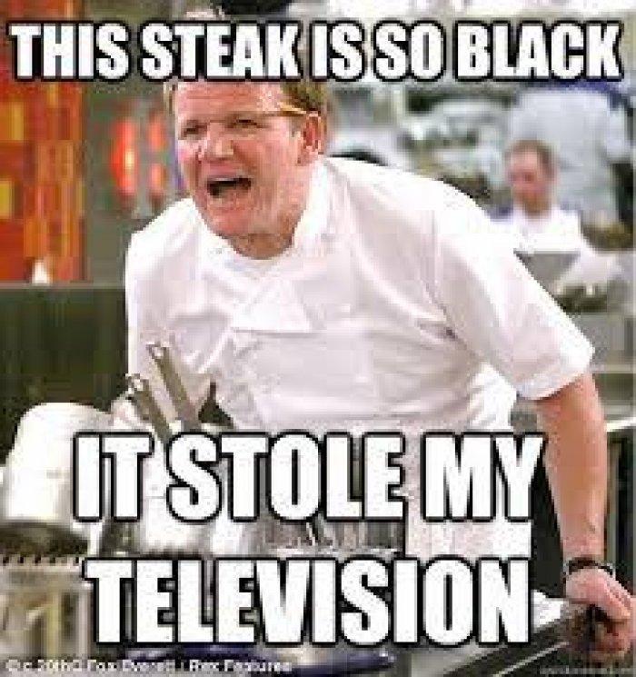 This Steak Is So Black Black Meme