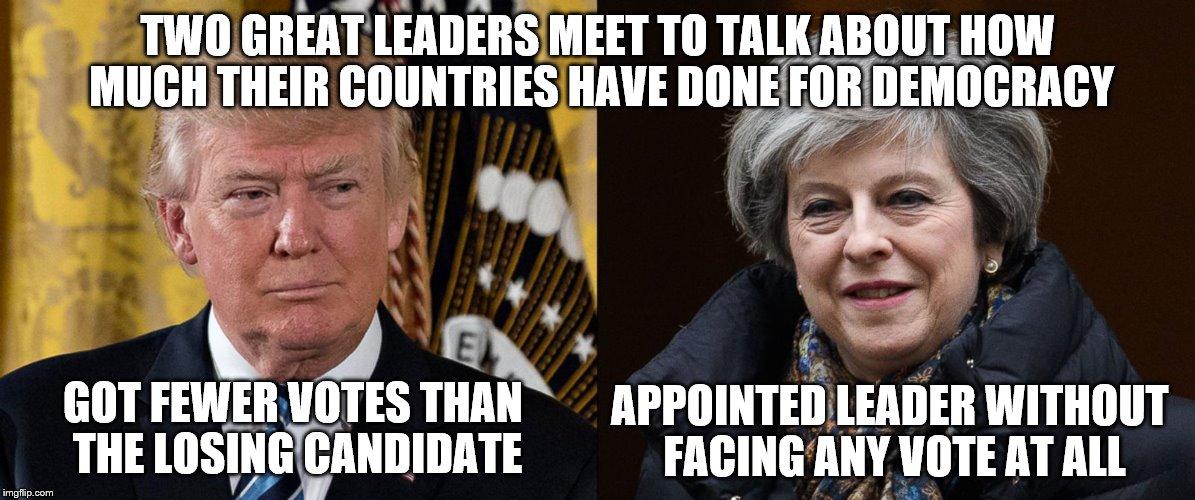 Two Great Leaders Meet May Meme