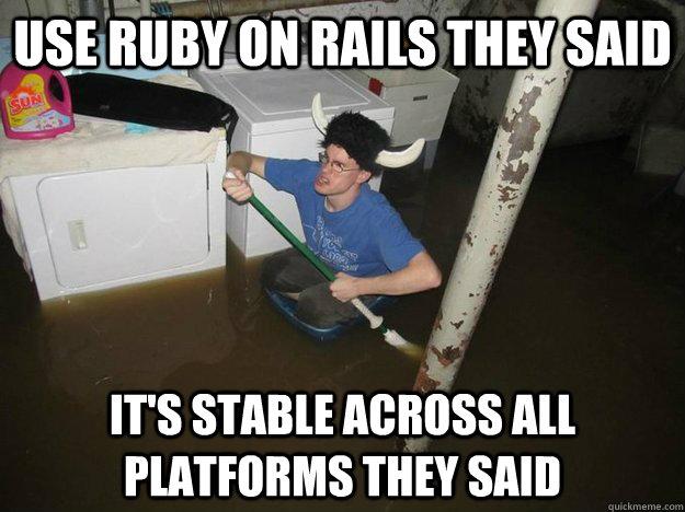 Use Ruby On Rails They Ruby Meme