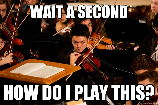 Wait A Second Violin Meme