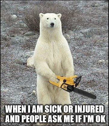 When I Am Sick Or Polar Bear Meme