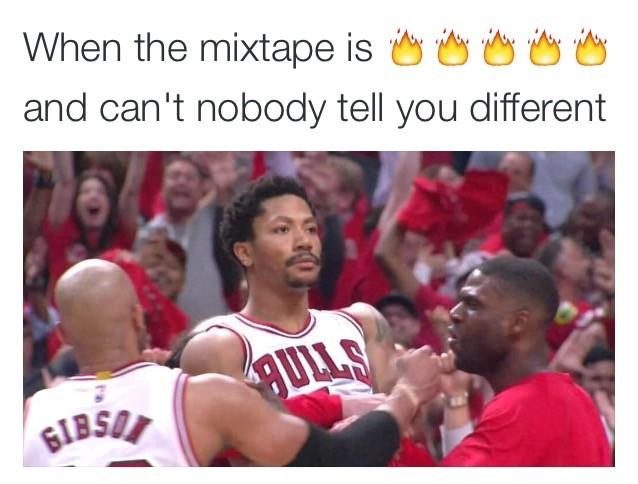 When The Mixtape Derrick Rose Memes