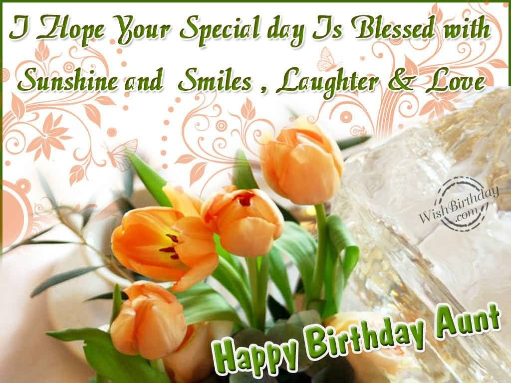 Awesome Flower Birthday Wishes For Dear Aunt