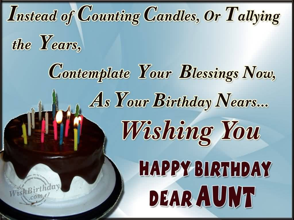 Beautiful Cake Birthday Wishes For Dear Aunt