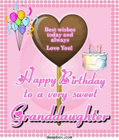 Best Wishes Today And Granddaughter Birthday Meme