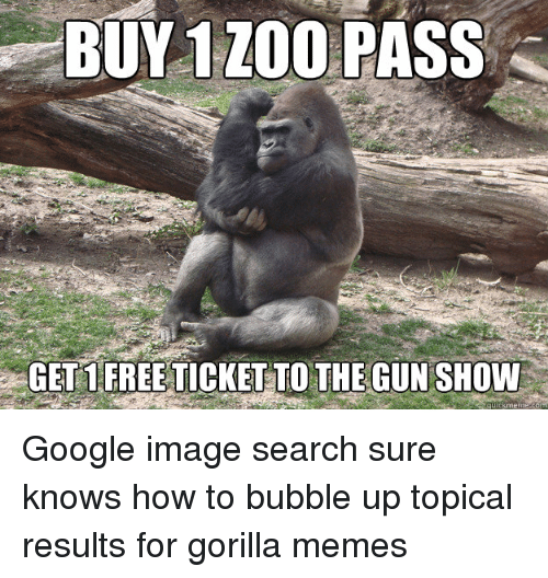 Buy 1Zoo Pass Gorilla Meme
