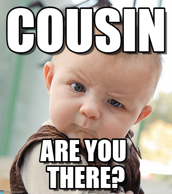 Cousin Are You There Cousin Meme