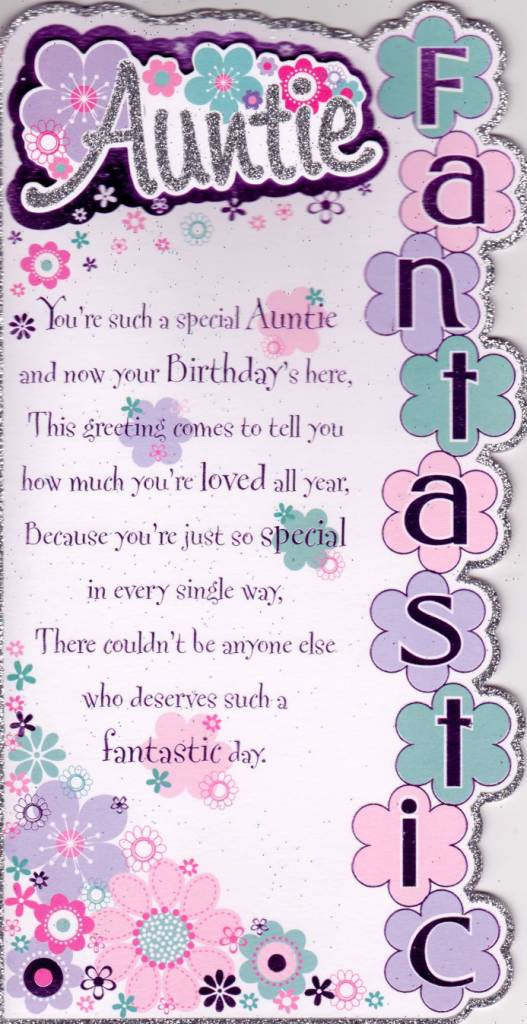 Fantastic Greetings Birthday Wishes For Aunt