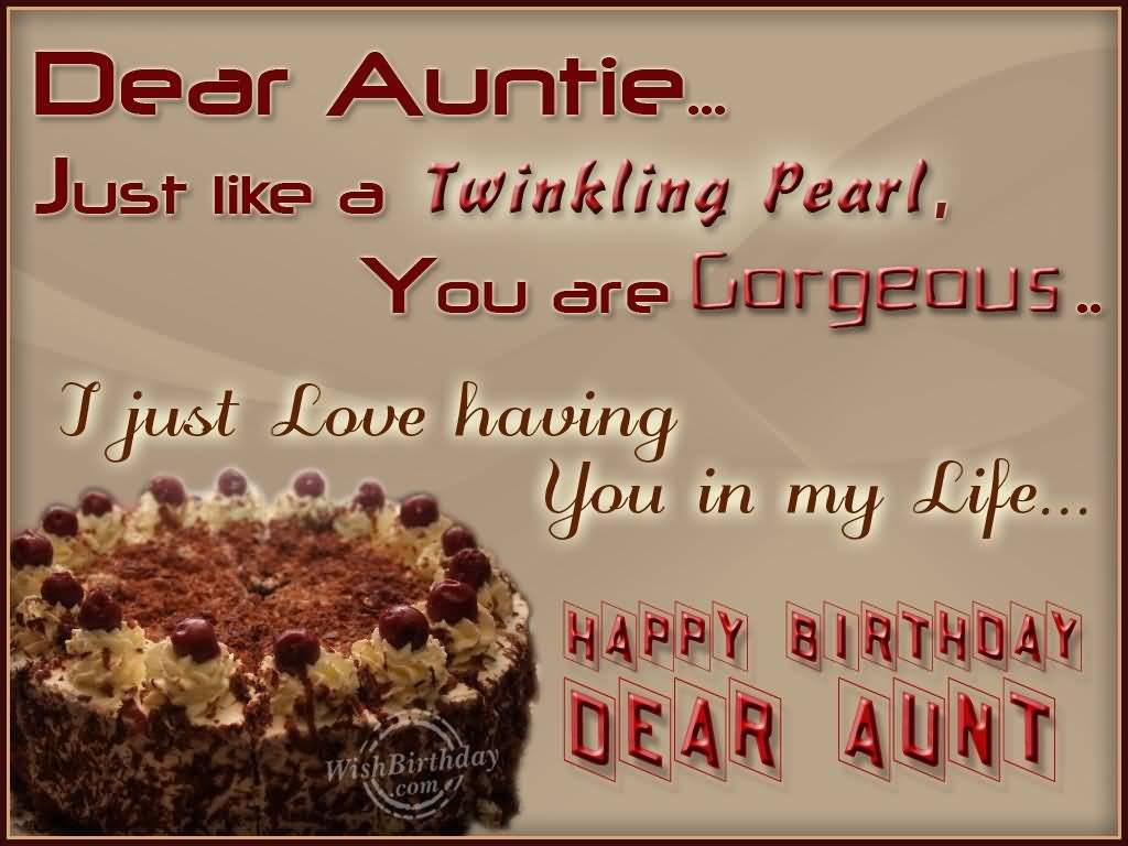 Gorgeous Cake Birthday Wishes For Dear Aunt