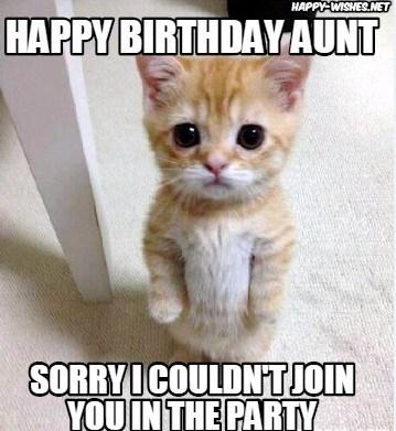 Happy Birthday Aunt Sorry Aunt Birthday Meme