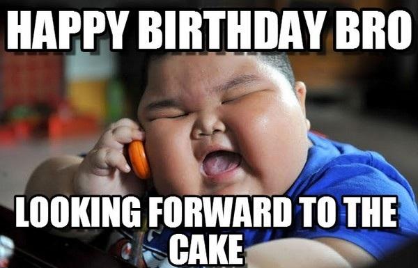 Happy Birthday Bro Looking Funny Birthday Meme