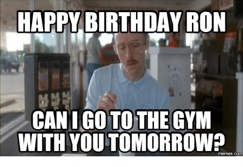 Happy Birthday Ron Can Uncle Birthday Meme