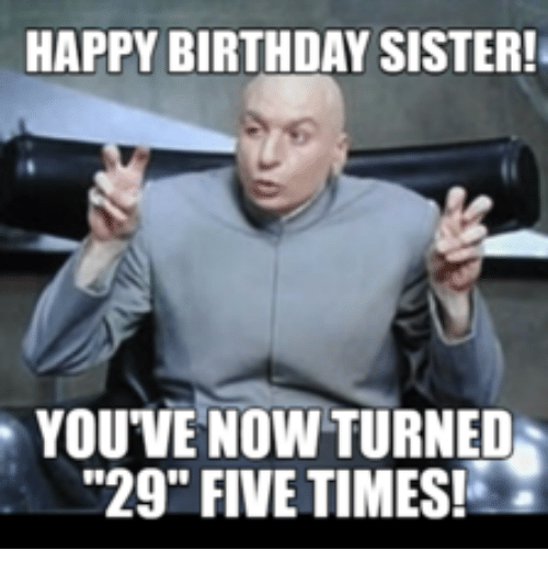 Happy Birthday Sister! You've Sister Birthday Meme