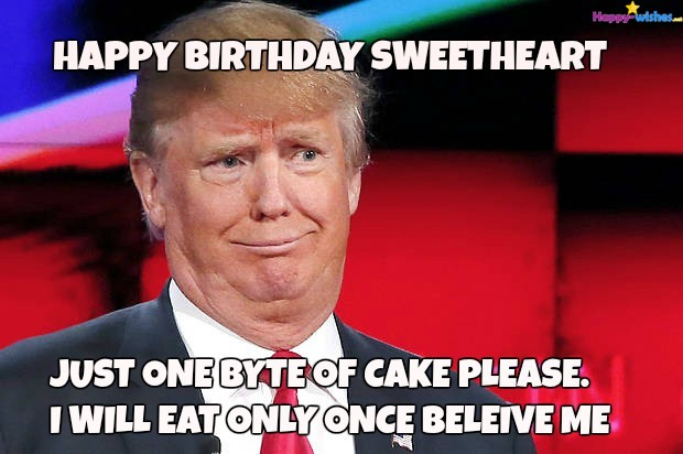 Happy Birthday Sweetheart Just Wife Birthday Meme