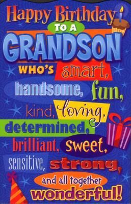 Happy Birthday To A Grandson Grandchild Birthday Meme