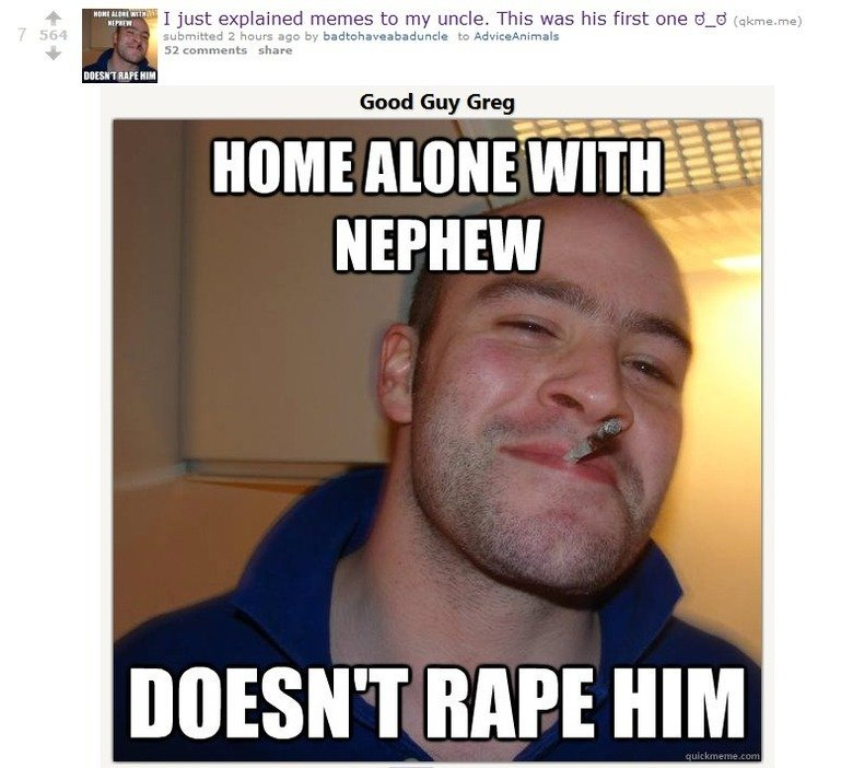 Home Alone With Nephew Uncle Meme