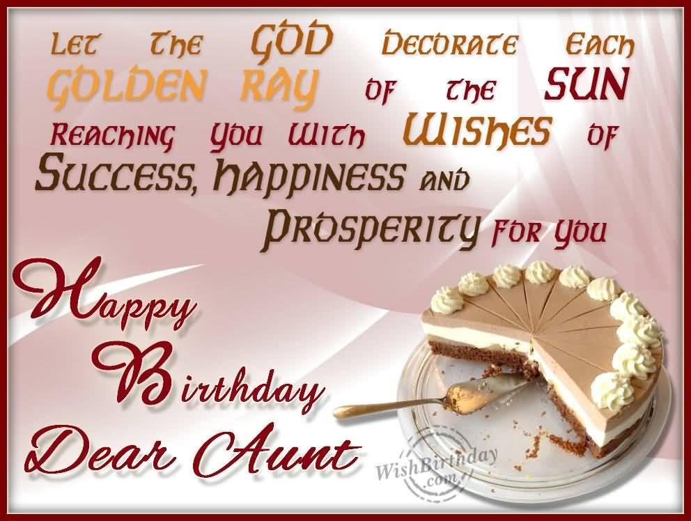 Precious Birthday Wishes For Dear Aunt