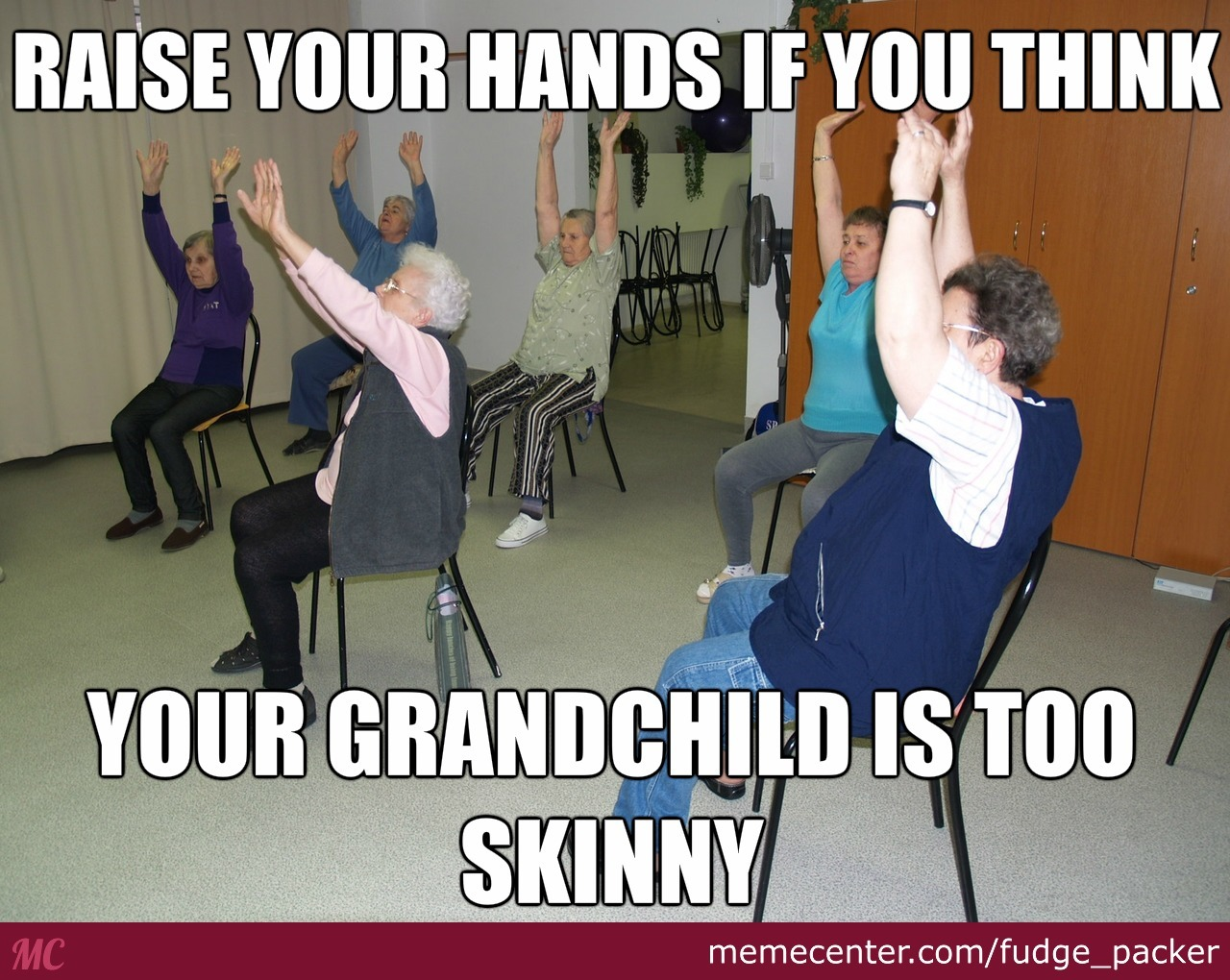 Raise Your Hands If Grandchild Meme