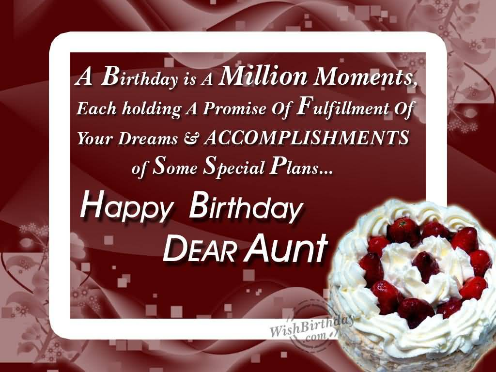 Special Cake Birthday Wishes For Dear Aunt