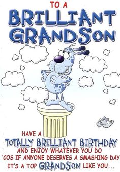 To A Brilliant Grandson Grandchild Birthday Meme