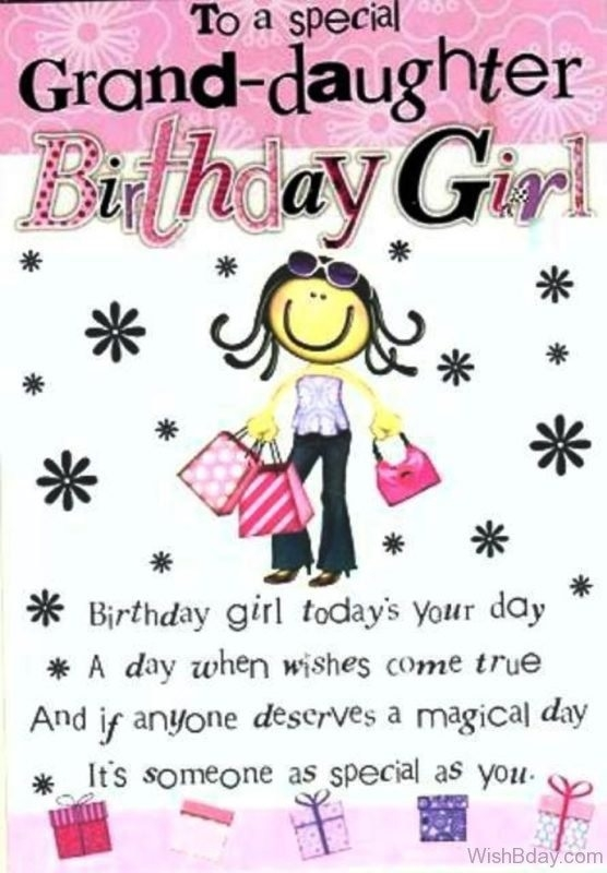 To A Special Grand Daughter Granddaughter Birthday Meme
