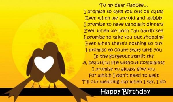 To My Dear Fiance Fiance Birthday Meme