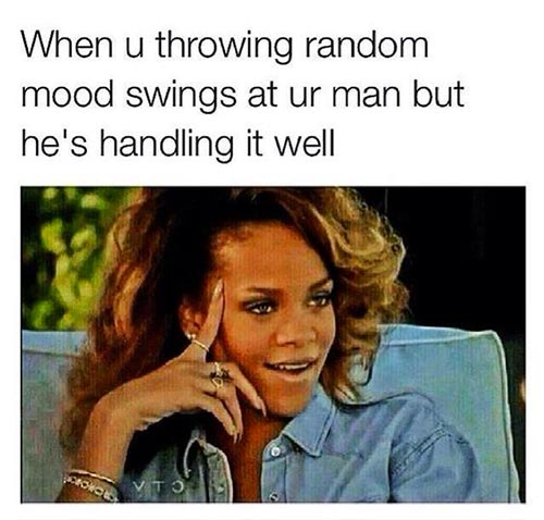 When U Throwing Random Mood BF Meme