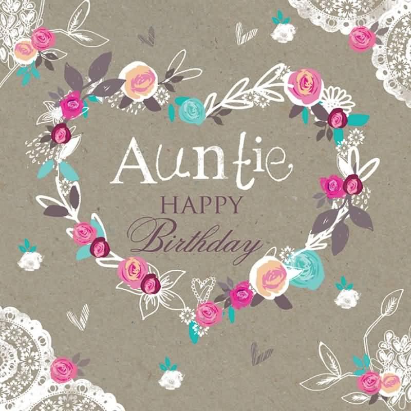 Wonderful E Card Birthday Wishes For  Dear Aunt