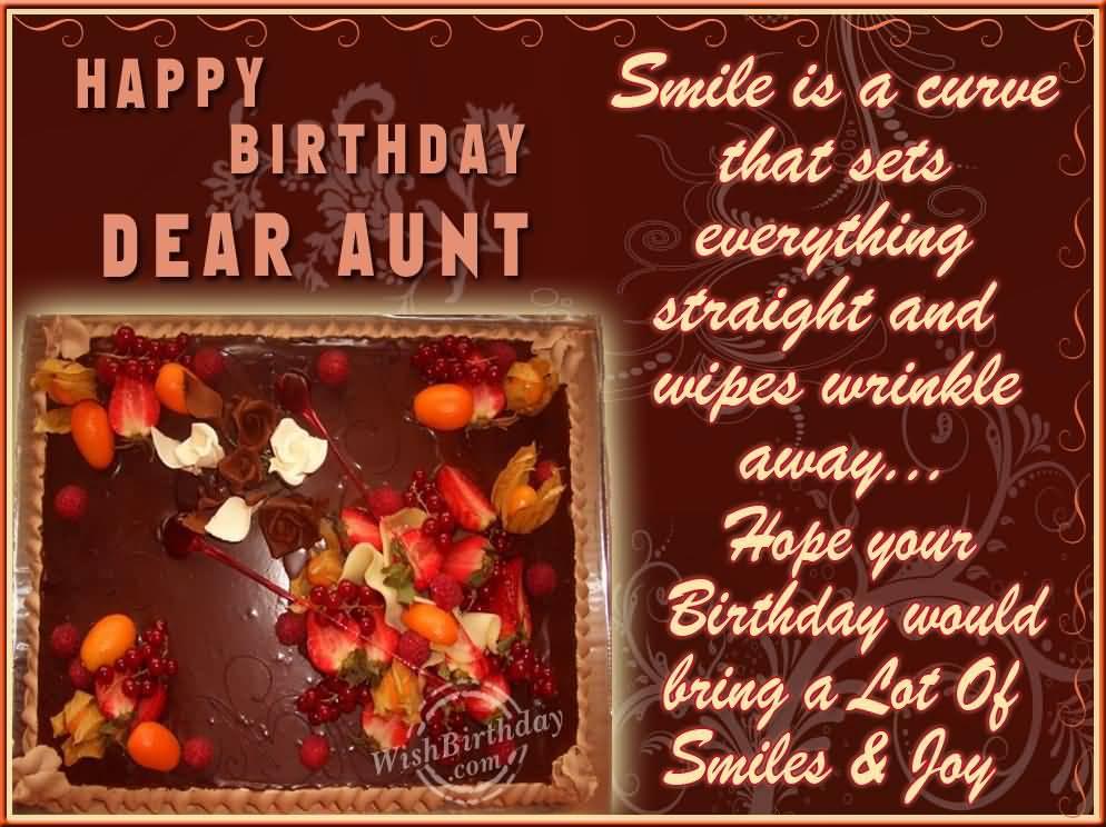 Wonderful Greetings Birthday Wishes For Dear Aunt