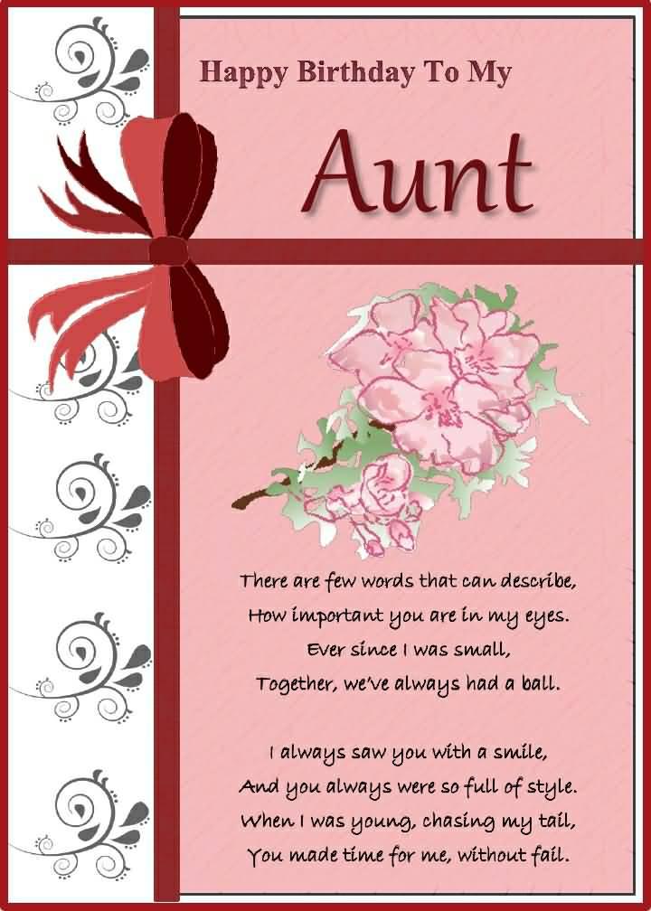 Wonderful Greetings Birthday Wishes To My Aunt