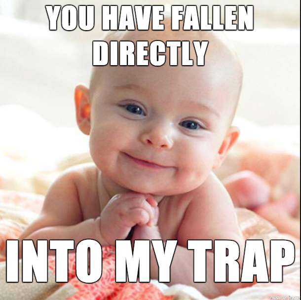 You Have Fallen Directly Baby Meme