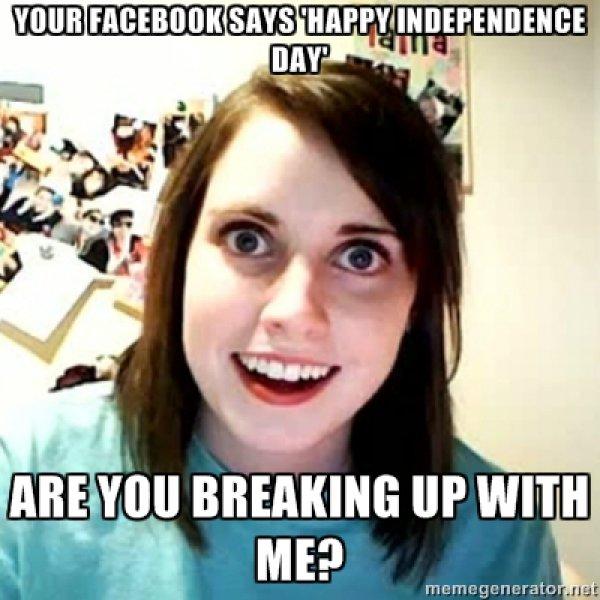 Your Facebook Says Happy Girlfriend Meme