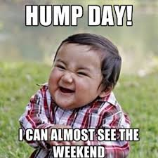 Hump Day I Can Almost See The Weekend Hump Day Meme