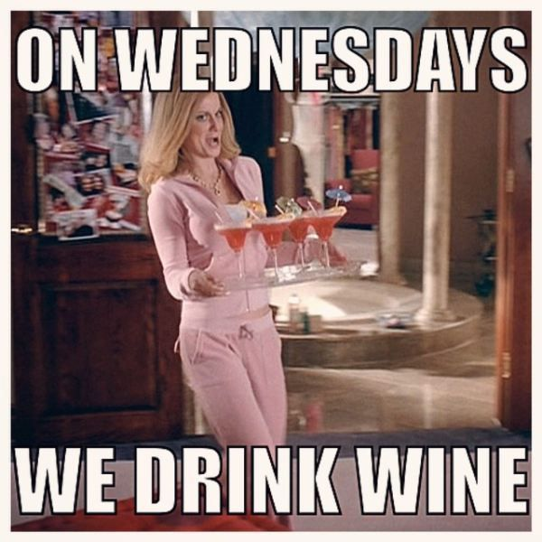 On Wednesdays We Drink Wine Hump Day Meme