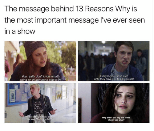 The Message Behind 13 Reasons Why Is The Most Important Message 13 Reasons Why Meme