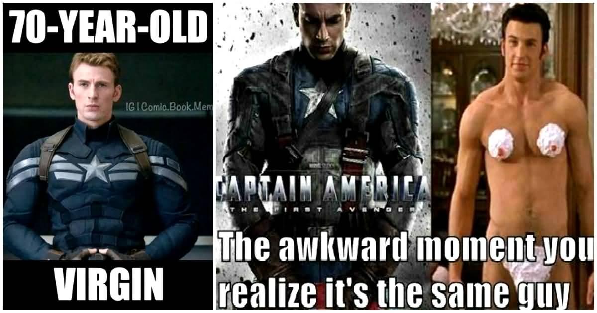 70 Years Old Virgin Captain America Meme